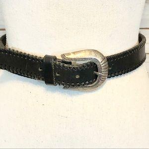 Vintage Cowboys Leather Crochet Buckle Belt